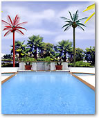 Lighted Coconut Palm Pool Decor